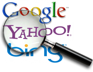 Major Search Engines Google Yahoo Bing